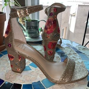 sparkley AND embroidered heels